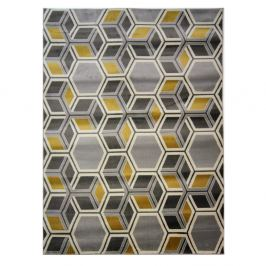 Koberec Flair Rugs Cocktail Mimosa Grey Ochre, 80 × 150 cm