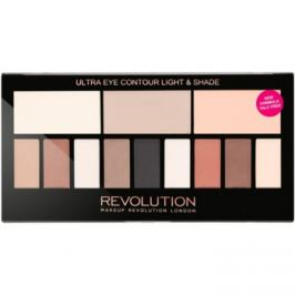 Makeup Revolution Ultra Eye Contour kontúrovacia paletka na oči odtieň Light & Shade 14 g